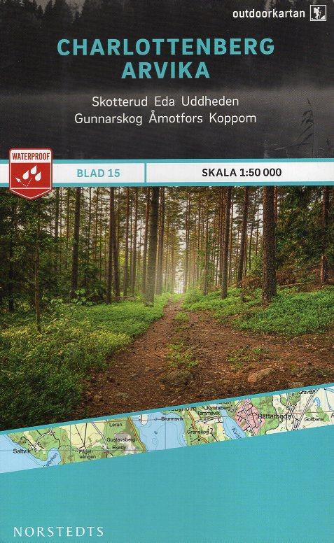 OK-15 Charlottenberg, Arvika 1:50.000 9789113068367  Norstedts Outdoorkartan (Fjällkartan)  Wandelkaarten Zuid-Zweden
