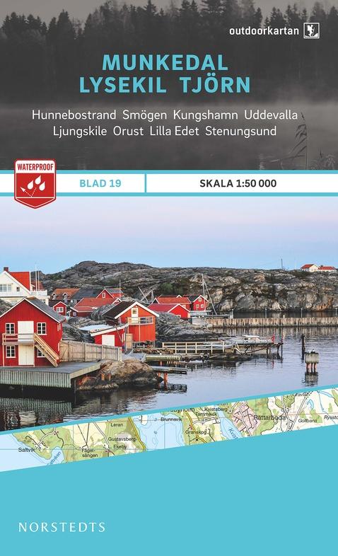 OK-19 Munkedal, Lysekil, Tjörn 1:50.000 9789113068404  Norstedts Outdoorkartan (Fjällkartan)  Wandelkaarten Zuid-Zweden