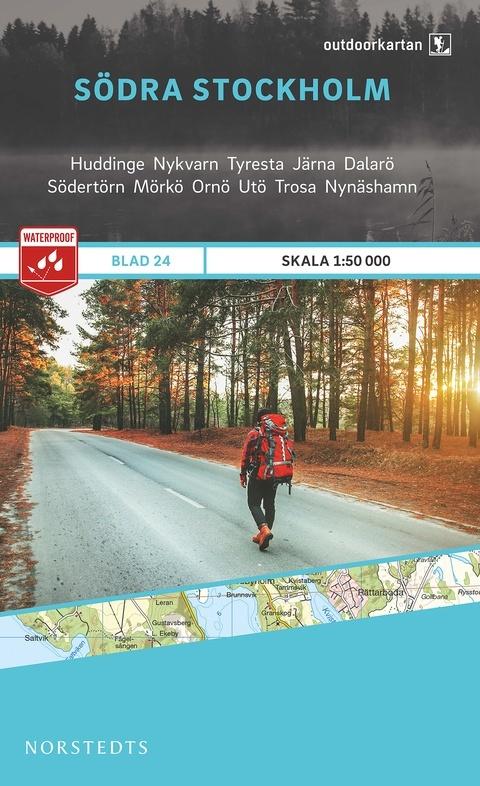 OK-24 Södra Stockholm 1:50.000 9789113068459  Norstedts Outdoorkartan (Fjällkartan)  Wandelkaarten Zuid-Zweden