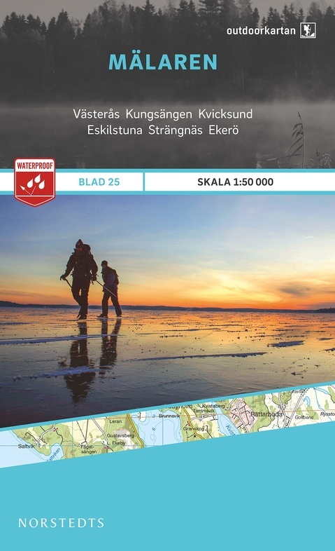 OK-25 Mälaren 1:50.000 9789113068466  Norstedts Outdoorkartan (Fjällkartan)  Wandelkaarten Zuid-Zweden