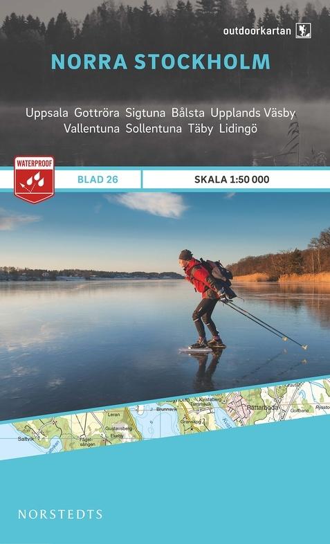OK-26 Norra Stockholm 1:50.000 9789113068473  Norstedts Outdoorkartan (Fjällkartan)  Wandelkaarten Zuid-Zweden