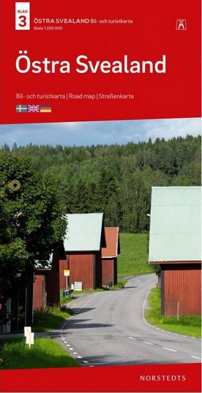 SE-3  Östra Svealand 1:250.000 9789113084176  Kartförlaget - Lantmäteriet Bil- och Turistkarta  Landkaarten en wegenkaarten Zuid-Zweden
