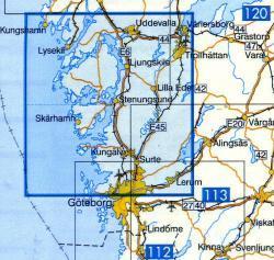 VK-118  Uddevalla 1:100.000 9789158801189  Kartförlaget - Lantmäteriet Vägkartan  Landkaarten en wegenkaarten Zuid-Zweden
