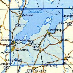 VK-120  Lidkoping 1:100.000 9789158801202  Kartförlaget - Lantmäteriet Vägkartan  Landkaarten en wegenkaarten Zuid-Zweden