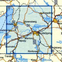 VK-122   Linkoping 1:100.000 9789158801226  Kartförlaget - Lantmäteriet Vägkartan  Landkaarten en wegenkaarten Zuid-Zweden