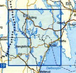 VK-124  Bengtsfors 1:100.000 9789158801240  Kartförlaget - Lantmäteriet Vägkartan  Landkaarten en wegenkaarten Zuid-Zweden
