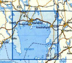 VK-125  Karlstad 1:100.000 9789158801257  Kartförlaget - Lantmäteriet Vägkartan  Landkaarten en wegenkaarten Zuid-Zweden