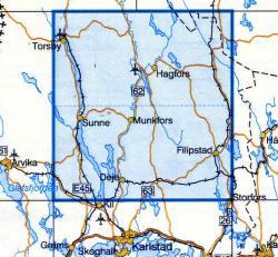 VK-131  Hagfors 1:100.000 9789158801318  Kartförlaget - Lantmäteriet Vägkartan  Landkaarten en wegenkaarten Zuid-Zweden
