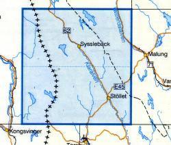 VK-136  Syssleback 1:100.000 9789158801363  Kartförlaget - Lantmäteriet Vägkartan  Landkaarten en wegenkaarten Zweden boven Uppsala