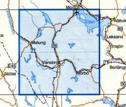 VK-137  Vansbro 1:100.000 9789158801370  Kartförlaget - Lantmäteriet Vägkartan  Landkaarten en wegenkaarten Zweden boven Uppsala