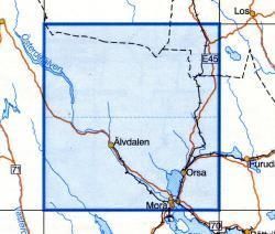 VK-142  Alvdalen 1:100.000 9789158801424  Kartförlaget - Lantmäteriet Vägkartan  Landkaarten en wegenkaarten Zweden boven Uppsala