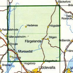 TKS-574  Färgelanda  1:50.000 9789158805743  Kartförlaget - Lantmäteriet Terrängkartan  Wandelkaarten Zuid-Zweden