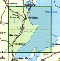 TKS-575  Mellerud  1:50.000 9789158805750  Kartförlaget - Lantmäteriet Terrängkartan  Wandelkaarten Zuid-Zweden