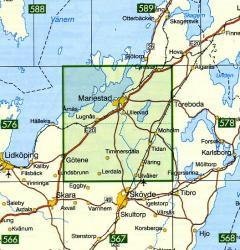 TKS-577  1:50.000 9789158805774  Kartförlaget - Lantmäteriet Terrängkartan  Wandelkaarten Zuid-Zweden