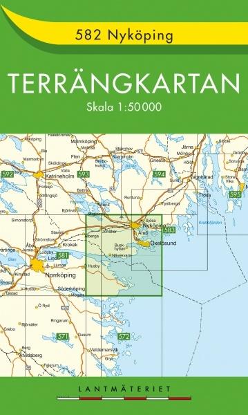 TKS-582  Nyköping 9789158805828  Kartförlaget - Lantmäteriet Terrängkartan  Wandelkaarten Zuid-Zweden