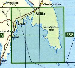 TKS-587  Säffle  1:50.000 9789158805873  Kartförlaget - Lantmäteriet Terrängkartan  Wandelkaarten Zuid-Zweden