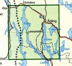 TKS-597  Arjäng  1:50.000 9789158805972  Kartförlaget - Lantmäteriet Terrängkartan  Wandelkaarten Zuid-Zweden