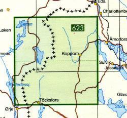 TKS-611  Koppom  1:50.000 9789158806115  Kartförlaget - Lantmäteriet Terrängkartan  Wandelkaarten Zuid-Zweden