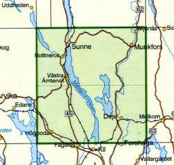 TKS-613  Sunne  1:50.000 9789158806139  Kartförlaget - Lantmäteriet Terrängkartan  Wandelkaarten Zuid-Zweden