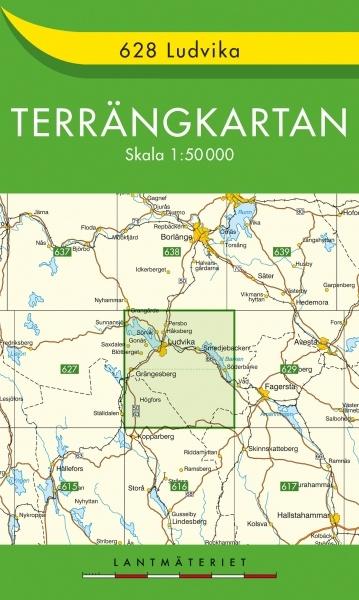 TKS-628  Ludvika 9789158806283  Kartförlaget - Lantmäteriet Terrängkartan  Wandelkaarten Zuid-Zweden