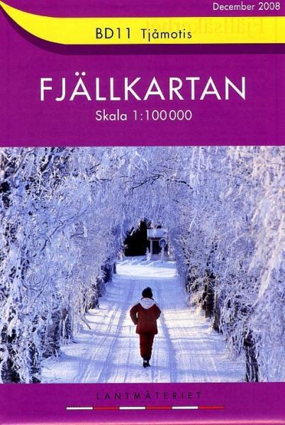 BD-11  Tjamotis 1:100.000 (ed. 2008) 9789158894891  Kartförlaget - Lantmäteriet Fjällkartan  Wandelkaarten Zweden boven Uppsala
