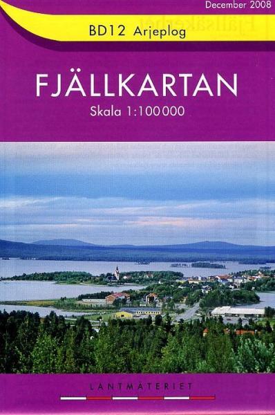BD-12  Arjeplog 1:100.000 9789158894914  Kartförlaget - Lantmäteriet Fjällkartan  Wandelkaarten Zweden boven Uppsala