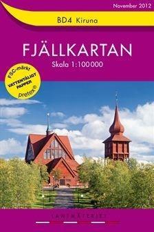 BD-04  Kiruna 1:100.000 9789158895430  Kartförlaget - Lantmäteriet Fjällkartan  Wandelkaarten Zweden boven Uppsala