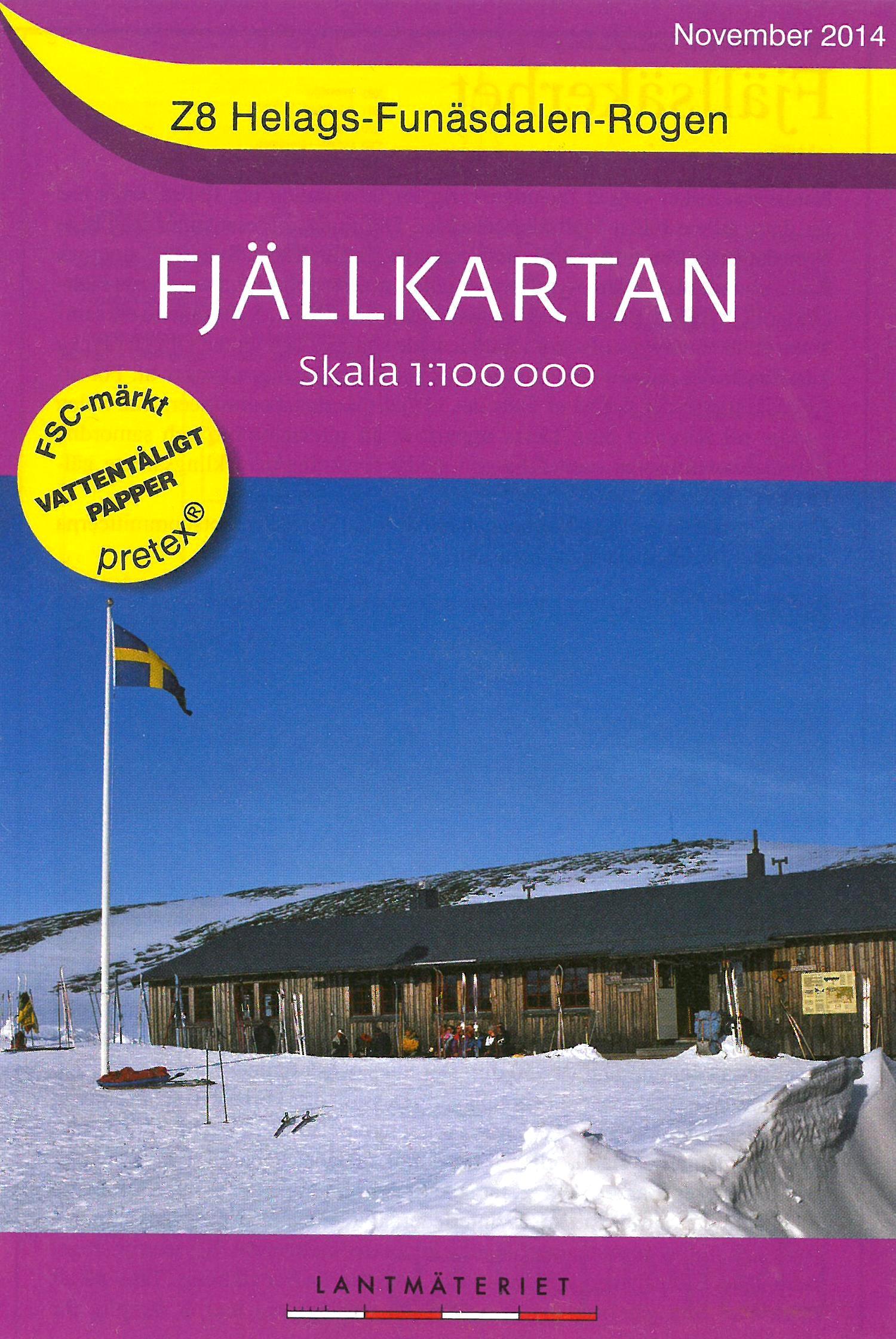 Z-8  Helags - Funäsdalen - Rogen 1:100.000 9789158895706  Kartförlaget - Lantmäteriet Fjällkartan  Wandelkaarten Zweden boven Uppsala