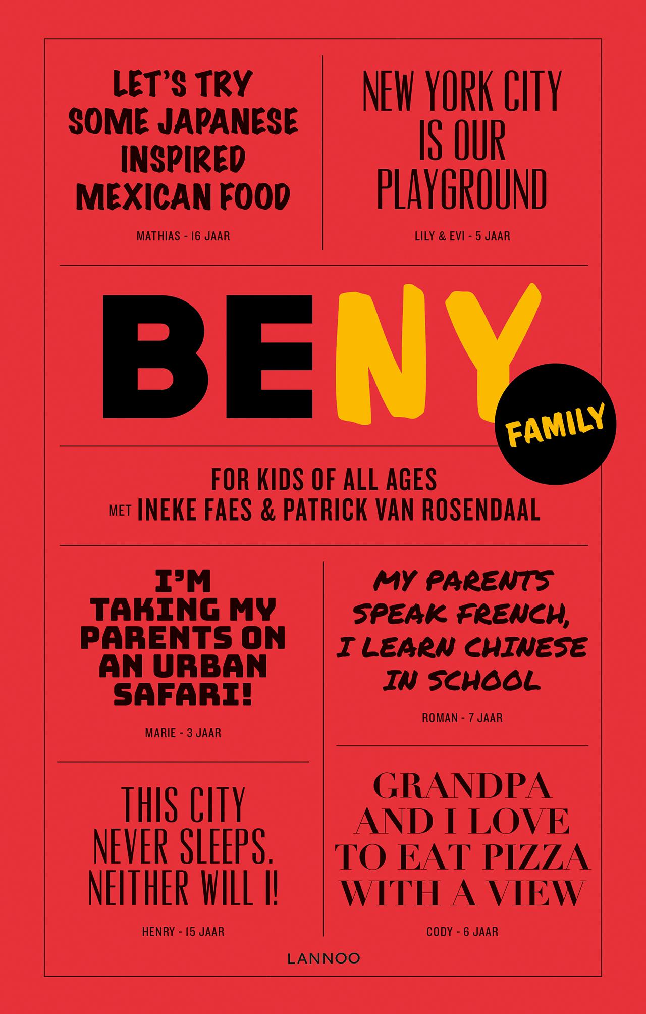 BE NY Family 9789401452007 Patrick van Roosendaal Lannoo   Reisgidsen, Reizen met kinderen New York, Pennsylvania, Washington DC