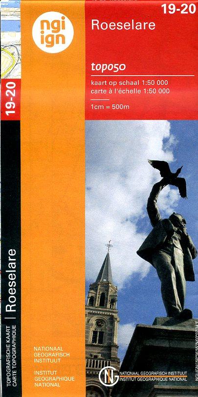 NGI-19-20  Veurne-Roeselare (topografische kaart 1:50.000) 9789462350038  NGI Belgie 1:50.000  Wandelkaarten Vlaanderen