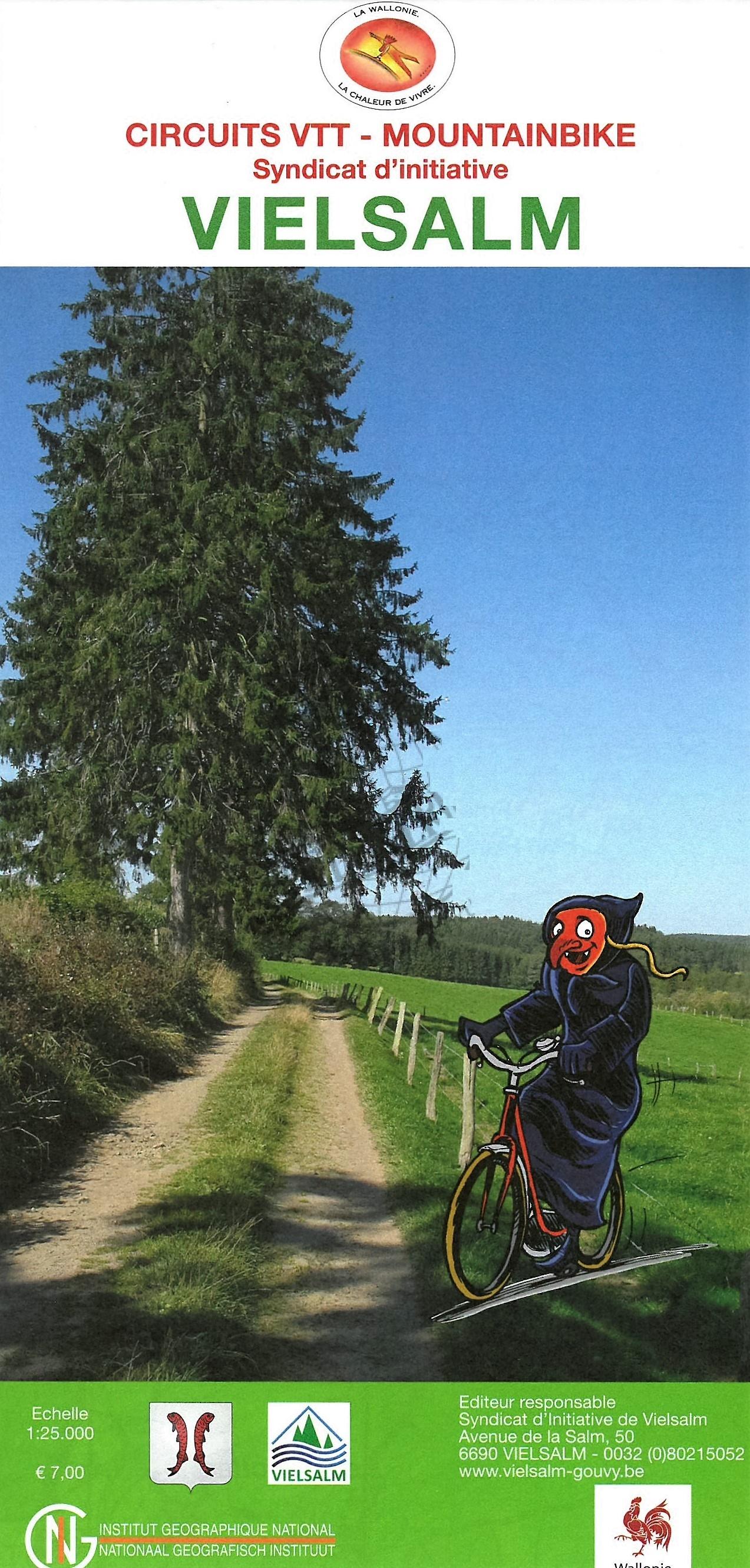 Lierneux-Vielsalm VTT (Mountainbike) 9789462350175  NGI NGI/VVV-kaarten 50d  Fietskaarten Wallonië (Ardennen)