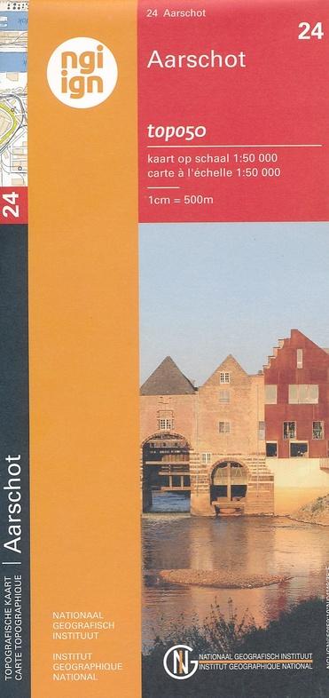 NGI-24  Aarschot (topografische kaart 1:50.000) 9789462350359  NGI Belgie 1:50.000  Wandelkaarten Vlaanderen