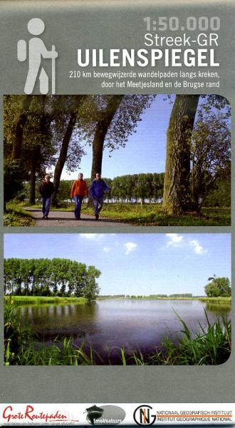 Toeristische kaart Streek-GR Uilenspiegel 1:50.000 9789462350533  Grote Routepaden   Wandelkaarten Gent, Brugge & westelijk Vlaanderen