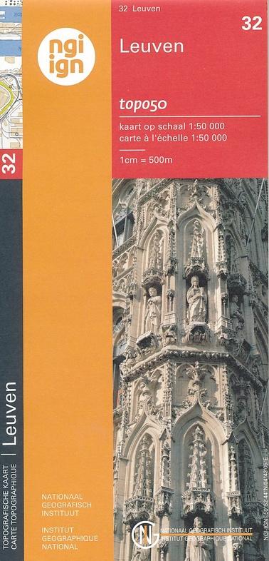 NGI-32  Leuven (topografische kaart 1:50.000) 9789462351028  NGI Belgie 1:50.000  Wandelkaarten Vlaanderen