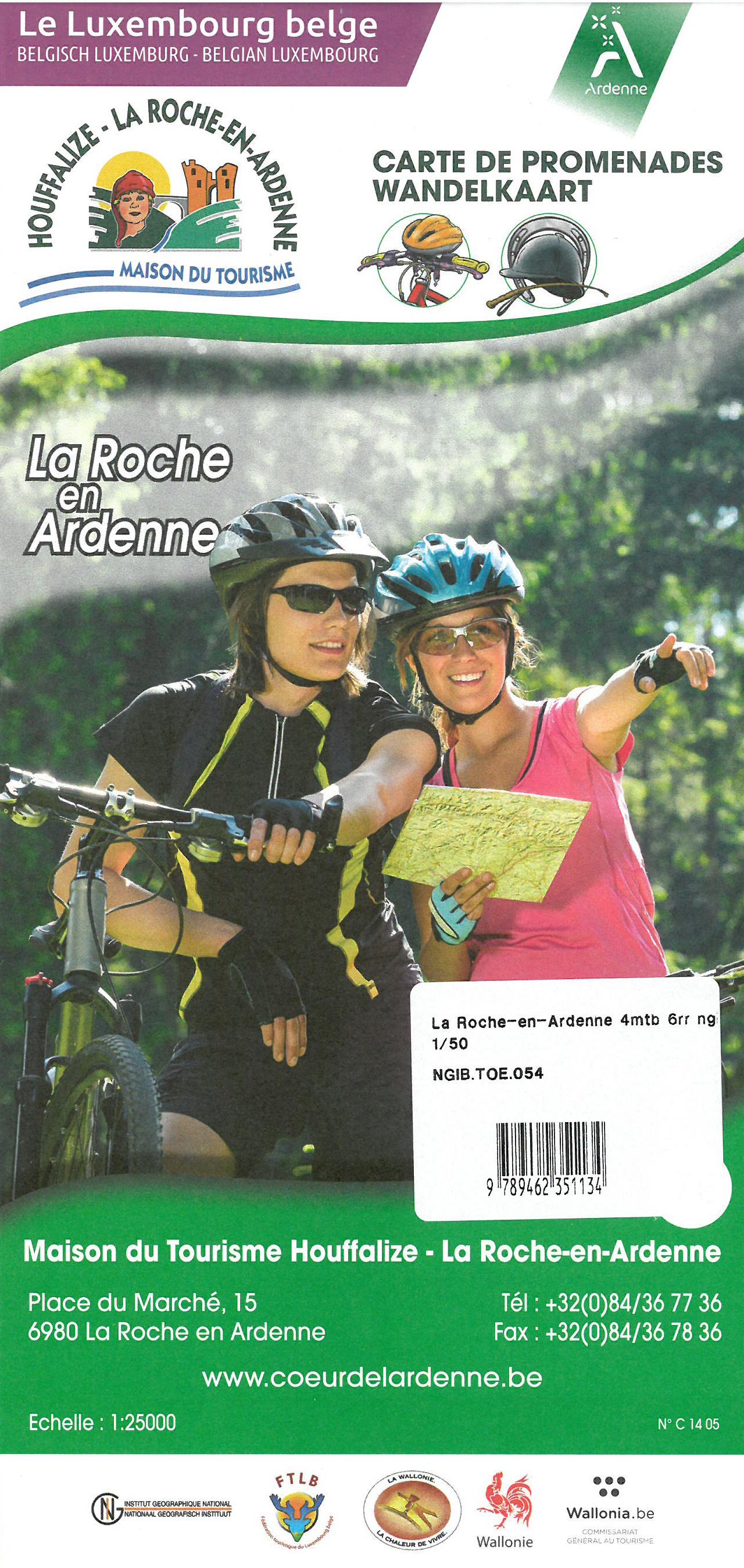 La Roche-en-Ardenne 1:50.000 9789462351134  NGI NGI/VVV-kaarten 50d  Fietskaarten Wallonië (Ardennen)