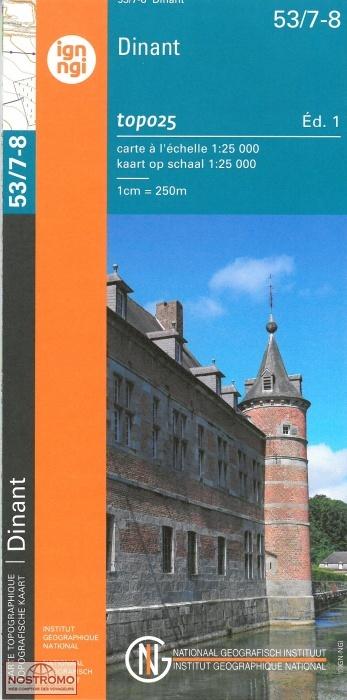 NGI-53/7-8  Hastière-Dinant | topografische wandelkaart 1:25.000 9789462351486  NGI Belgie 1:20.000/25.000  Wandelkaarten Wallonië (Ardennen)