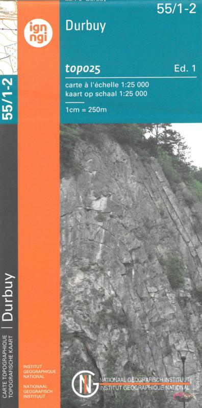 NGI-55/1-2  Durbuy-Mormont | topografische wandelkaart 1:25.000 9789462352353  NGI Belgie 1:20.000/25.000  Wandelkaarten Wallonië (Ardennen)