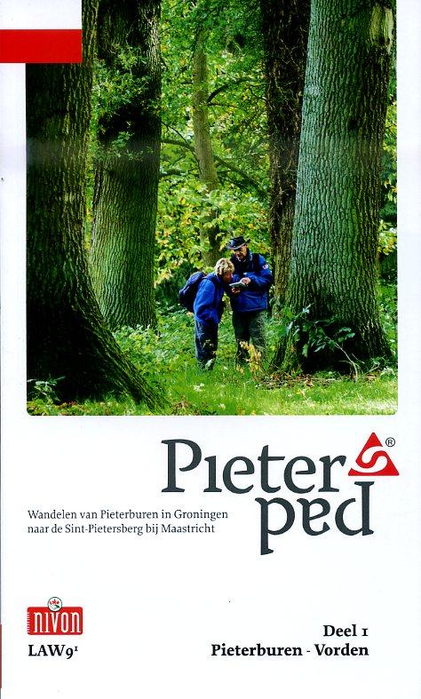 LAW 9-1 Pieterpad 9789491142055  Nivon LAW-Gidsen  Meerdaagse wandelroutes, Wandelgidsen Noord Nederland, Oost Nederland