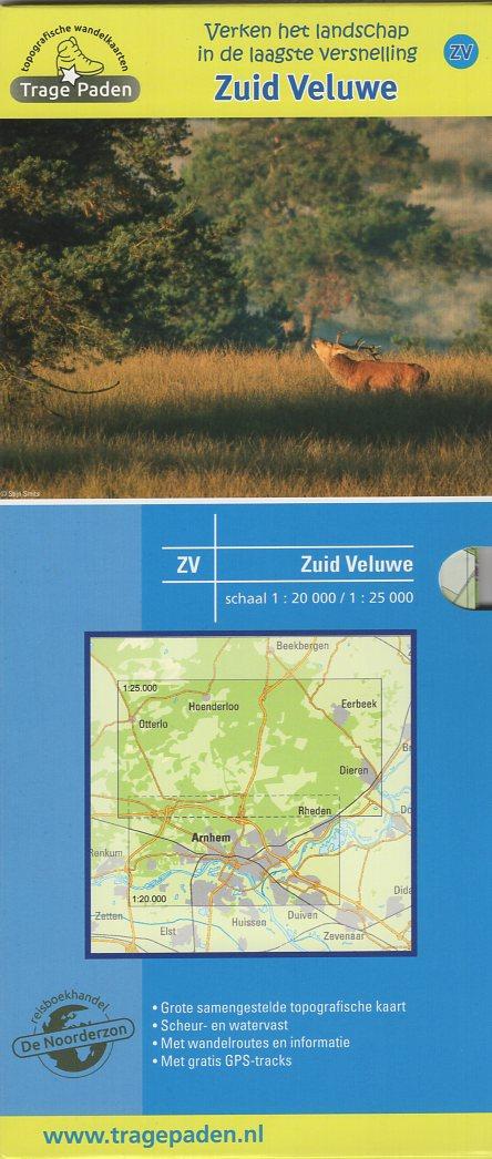 ZV  Zuid-Veluwe  | Trage Paden wandelkaart 1:20.000 / 25.000 9789491767012 Samenstelling en routes: Leon Receveur Reisboekhandel De Noorderzon Trage Paden  Cadeau-artikelen, Wandelkaarten Arnhem en de Veluwe