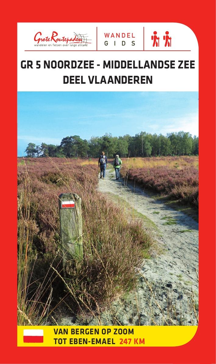 GR-5 | Noordzee – Middellandse Zee, deel Vlaanderen 9789492608017  Grote Routepaden Topogidsen  Meerdaagse wandelroutes, Wandelgidsen Vlaanderen