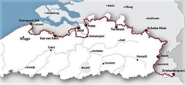De Grensroute   fietsroute langs de Belgisch-Nederlands grens 9789492608079  Grote Routepaden   Fietsgidsen, Historische reisgidsen, Meerdaagse fietsvakanties Vlaanderen