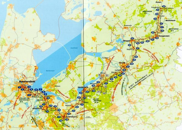 LAW-15 Westerborkpad 9789492641007  Wandelnet LAW-Gidsen  Meerdaagse wandelroutes, Wandelgidsen Nederland
