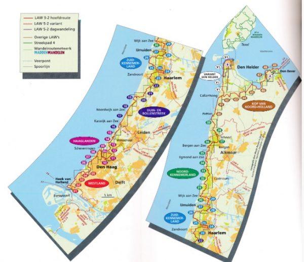 LAW 5-2 Nederlands Kustpad | Hollandse Kust 9789492641052  Nivon LAW-Gidsen  Meerdaagse wandelroutes, Wandelgidsen West Nederland