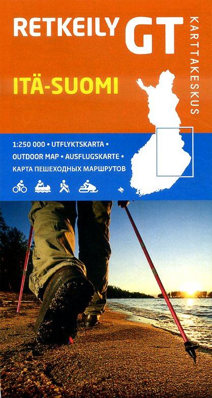 GT-Outdoor Map Itä-Suomi (Oost-Finland) 1:250.000 9789522662064  Genimap Oy Outdoor Maps  Landkaarten en wegenkaarten Finland