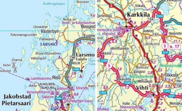 Motoristin Suomi | Wegenatlas Finland 1/400.000 9789522665263  Genimap Oy Wegenatlassen  Wegenatlassen Finland