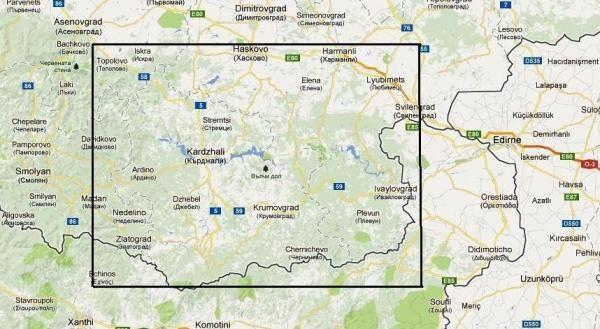Rhodopes East 1:120.000 Touring Map 9789546510389  Domino   Landkaarten en wegenkaarten Bulgarije