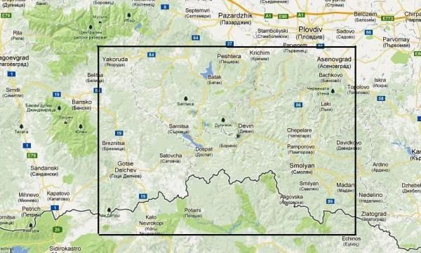 Rhodopes West 1:100.000 Touring Map 9789546512055  Domino   Landkaarten en wegenkaarten Bulgarije