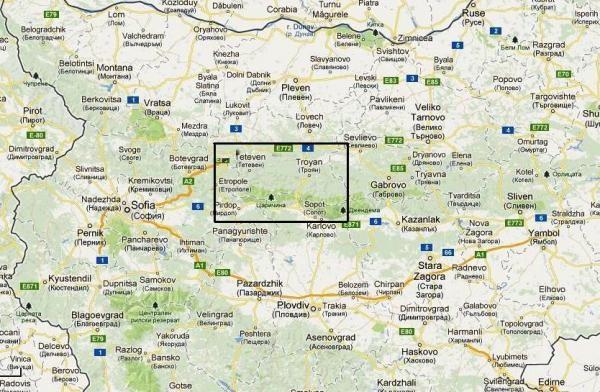 Stara Planina: From Zlatitsa to Kalofer | wandelkaart  1:50.000 9789546512260  Domino   Wandelkaarten Bulgarije