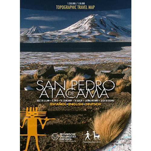 San Pedro de Atacama 1:350 000/1:50 000 9789568925000  Viachile Editores Trekking Maps  Wandelkaarten Chili
