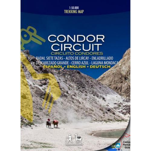 Trekking Map Condor Circuit 1:50 000 9789568925024  Viachile Editores Trekking Maps  Wandelkaarten Chili, Argentinië, Patagonië